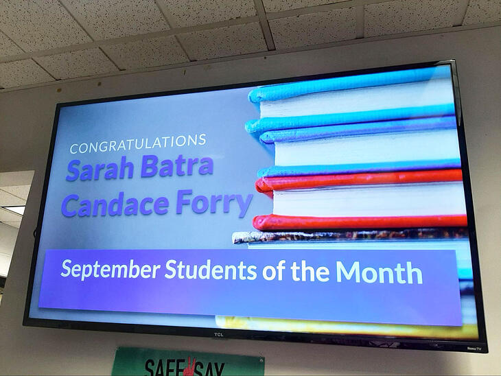 student of the month digital signage