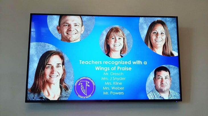 teacher appreciation signage