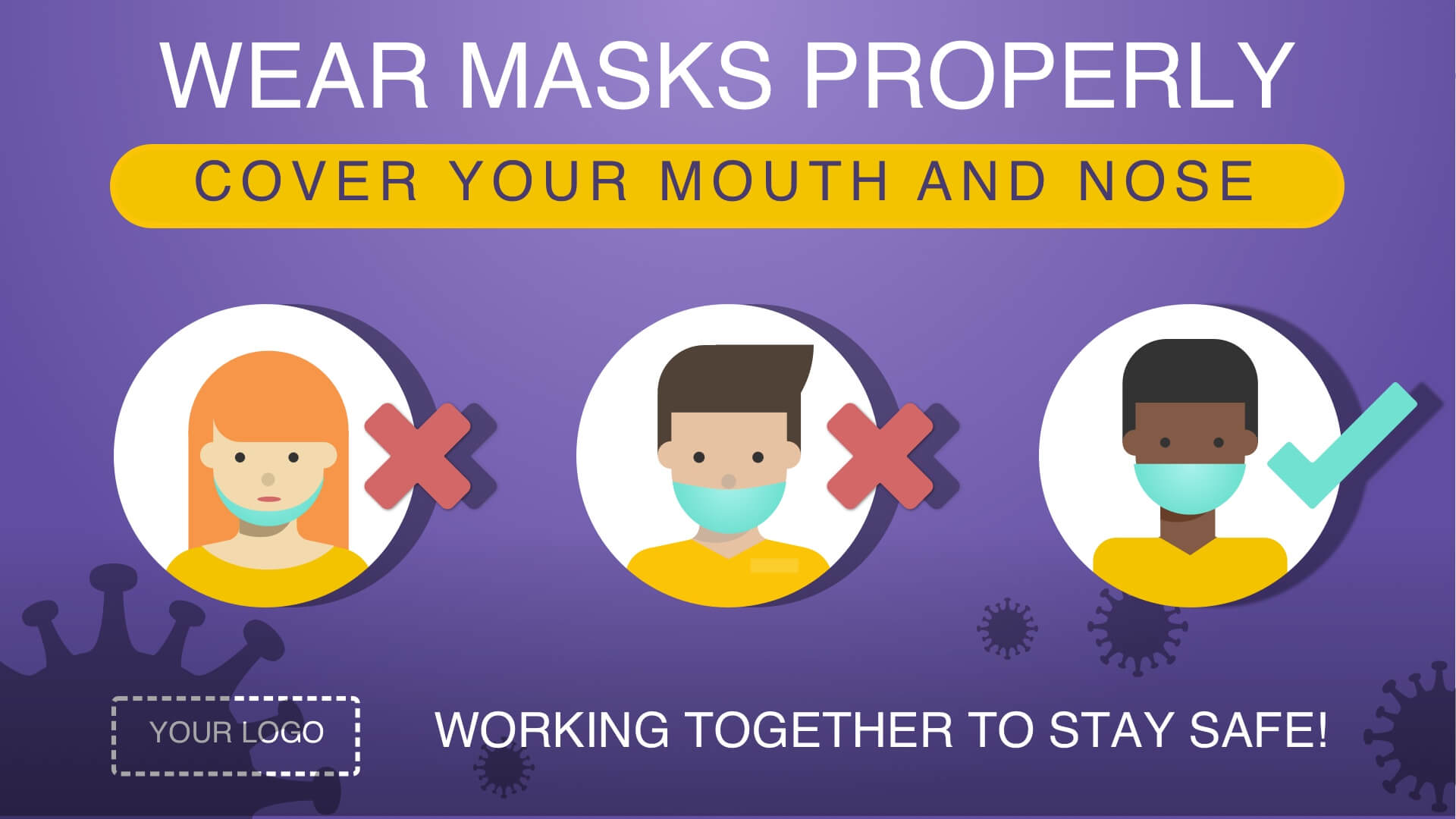 template-digitial-signage-sign-campaign-proper-mask-wear