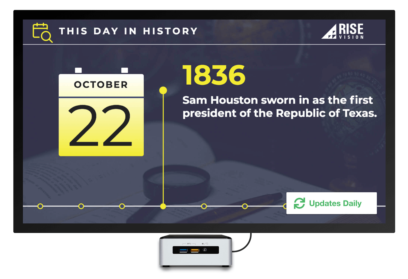 this day in history digital signage template