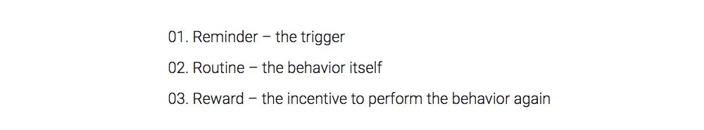 three steps to make something a habit