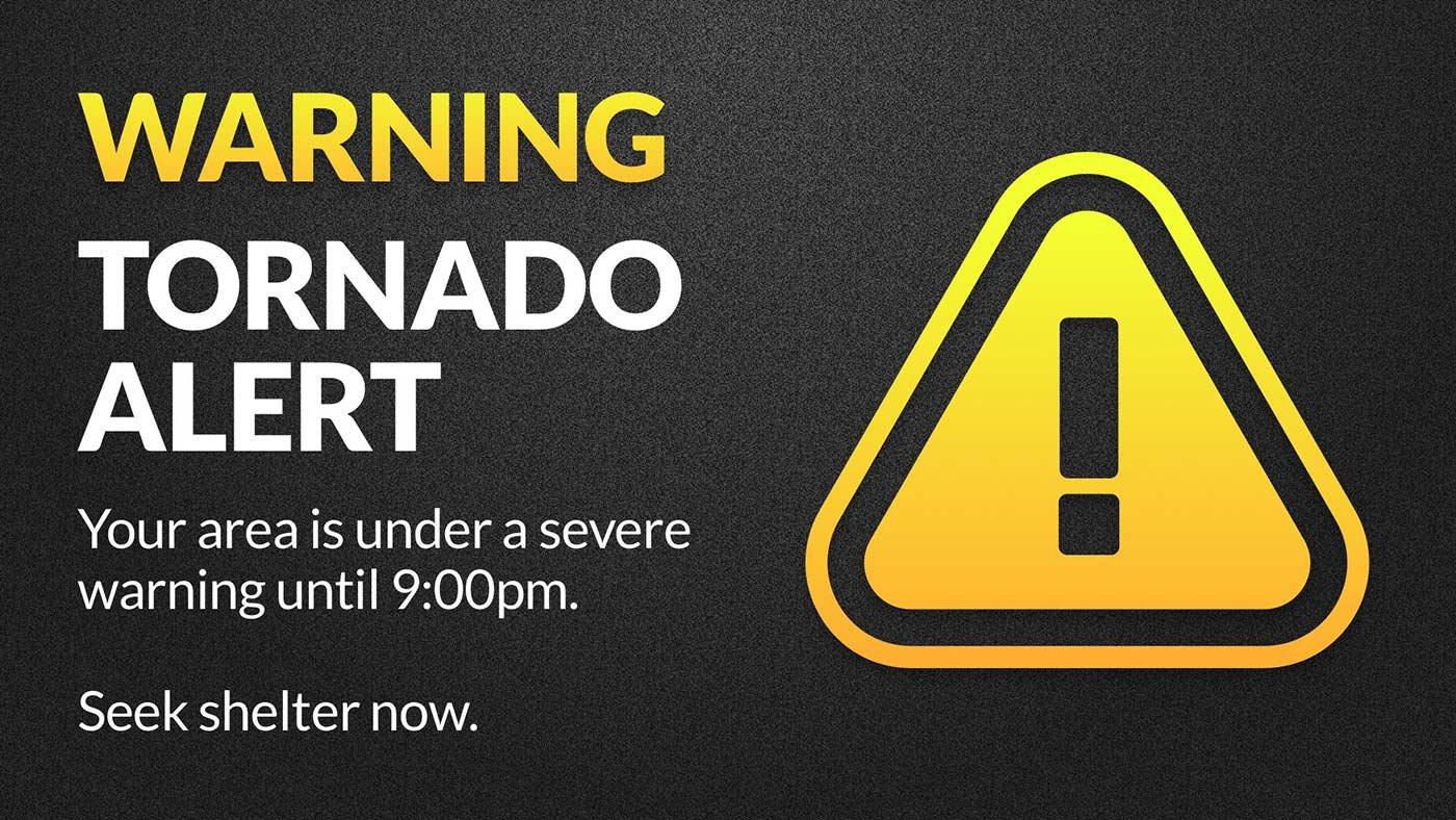Tornado Warning CAP Alert