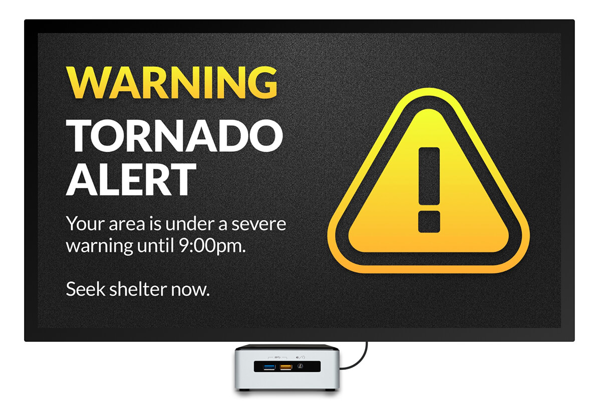 tornado warning digital signage template