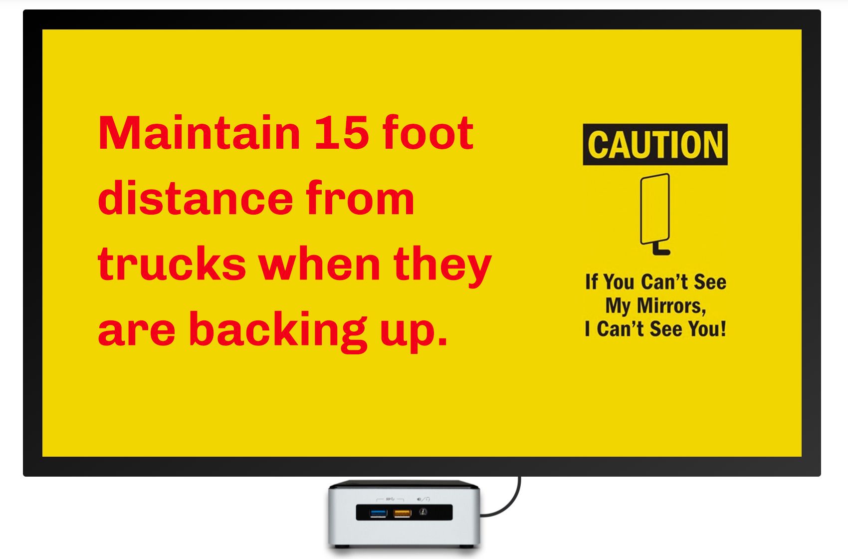 truck loading dock safety digital signage