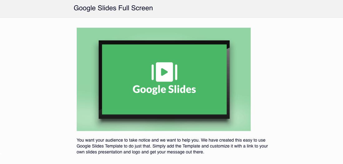 Uploading Google Slide to Digital Signage Content Management System