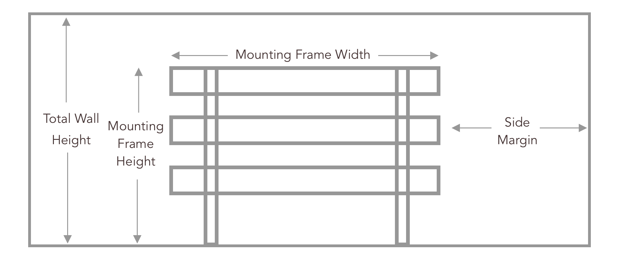video grid display mounting hardware schematic