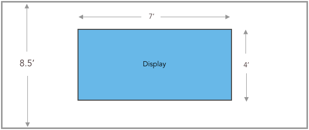 video wall one screen schematic