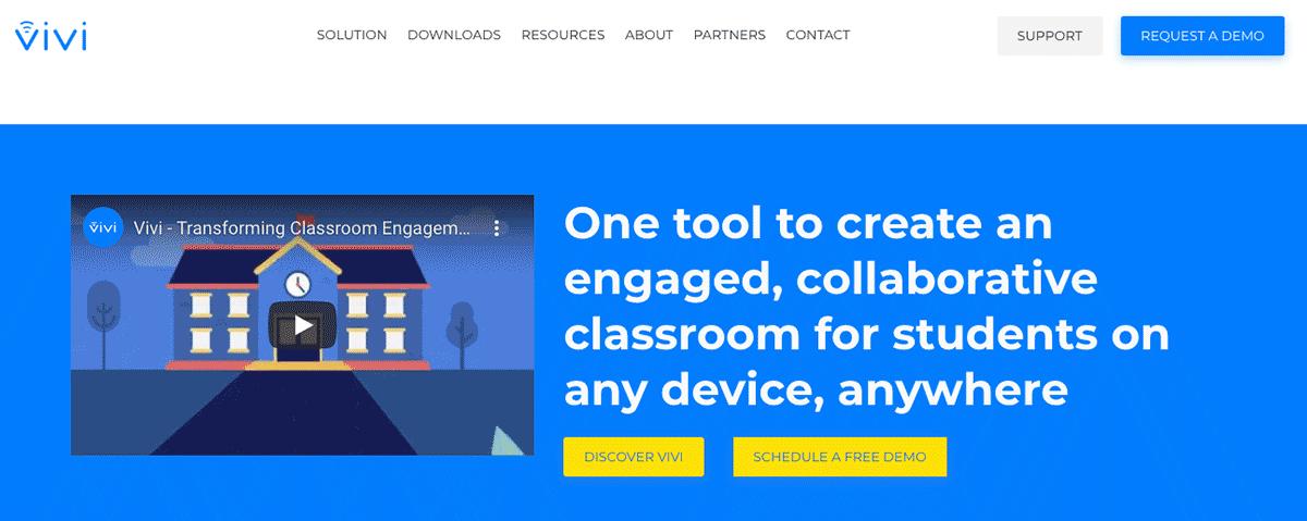 vivi wireless presentation homepage