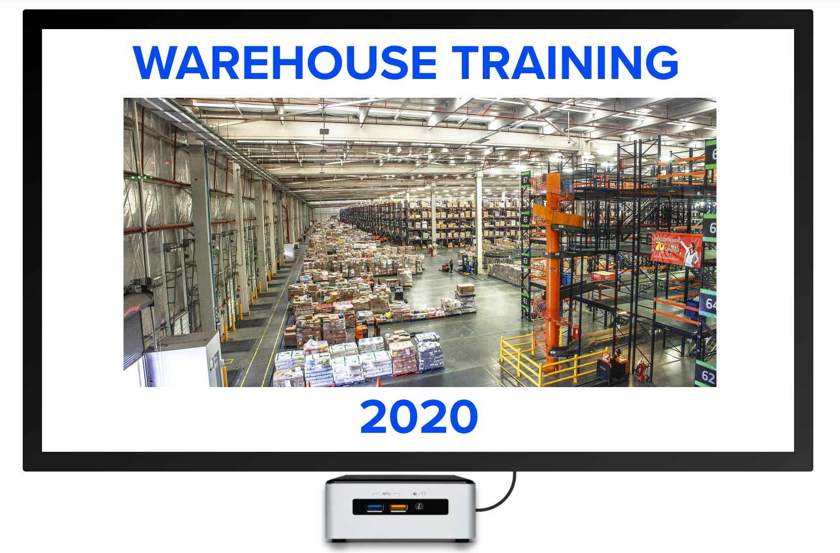 warehouse training digital signage presentation