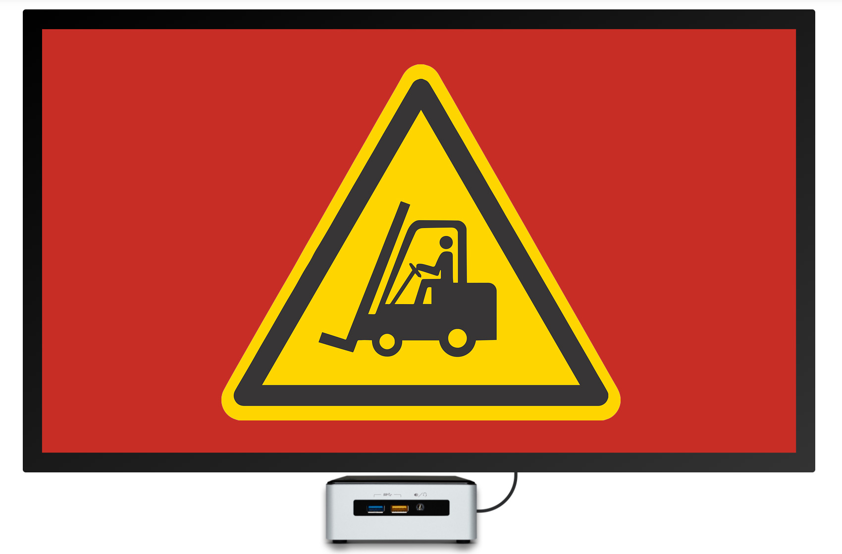watch for forklift digital signage