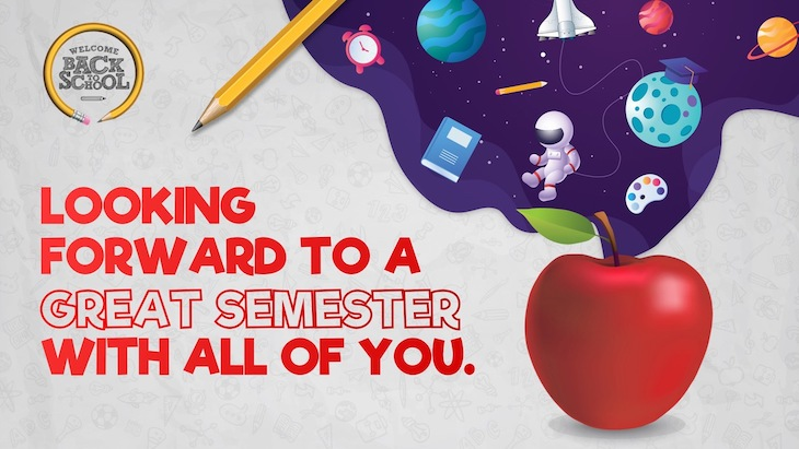Use this teacher appreciation poster to welcome students back to school.