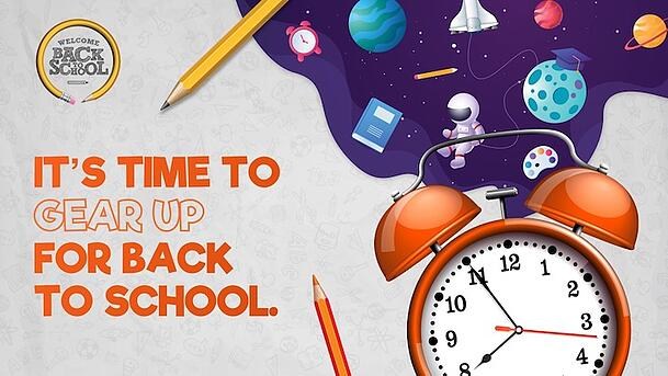 Use this get ready poster to welcome students back to school.