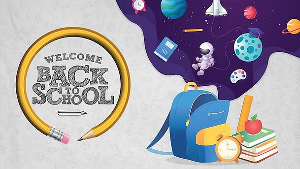 Use this composite poster to welcome students back to school.