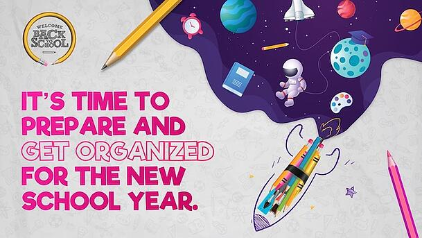 Use this get organized poster to welcome students back to school.