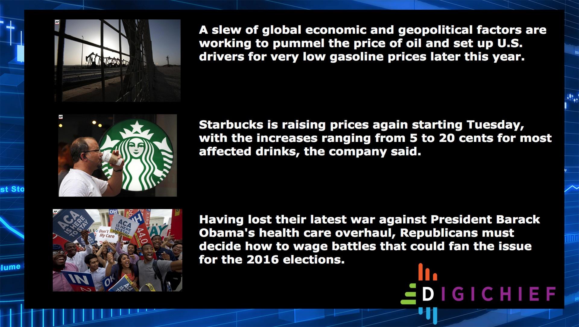 news widget digital signage