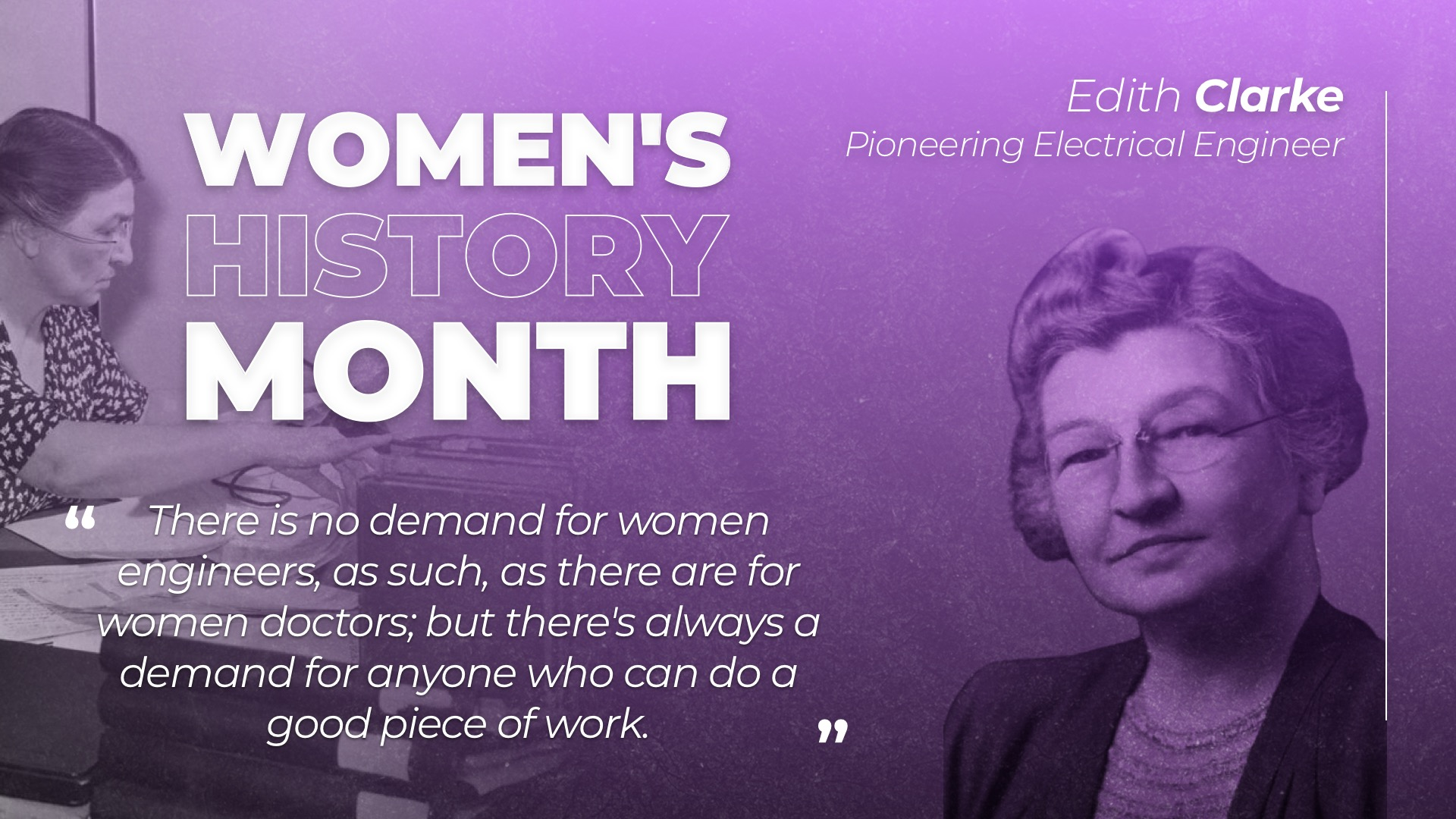 Women's History Month Posters Edith Clarke