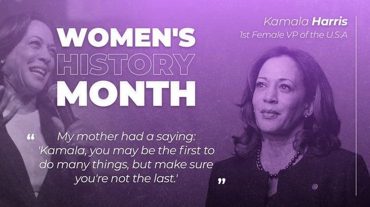 Women's History Month Posters Kamala Harris