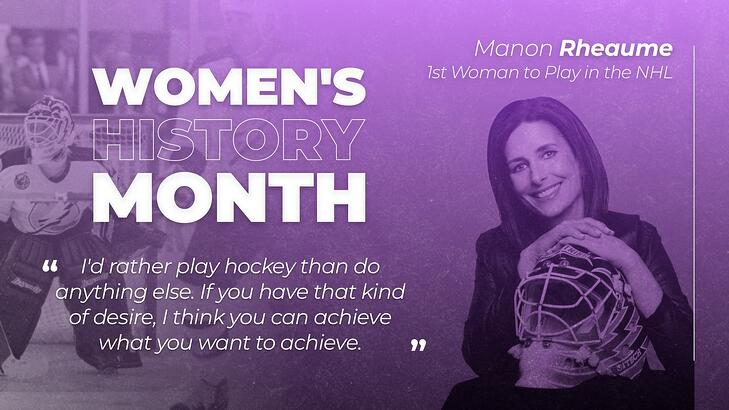 Women's History Month Posters Manon Rheaume