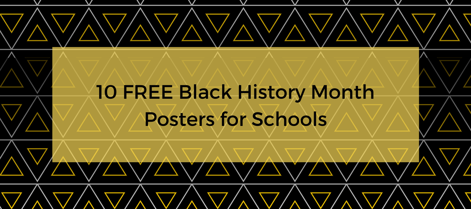 10 Free Black History Month Posters for Schools