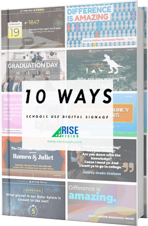 Free PDF: 10 Ways Schools Use Digital Signage