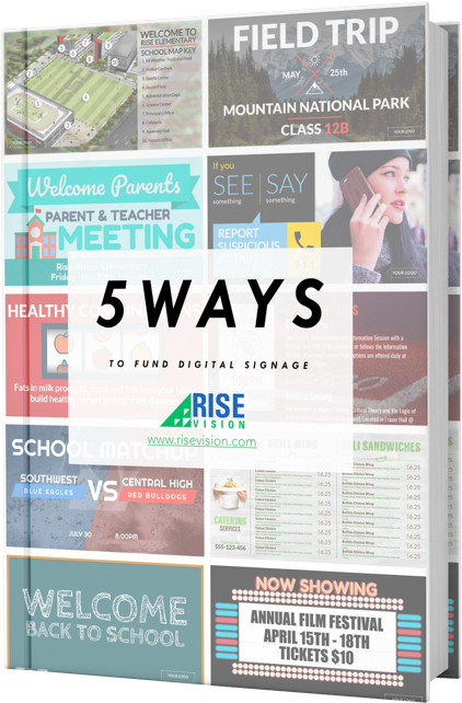 Free PDF: 5 Ways To Fund Your Digital Signage