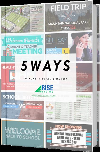 Free PDF: 5 Ways To Fund Your Digital Signage
