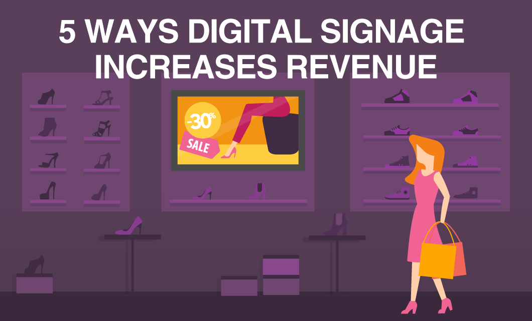 5 Ways Digital Signage Increases Revenue