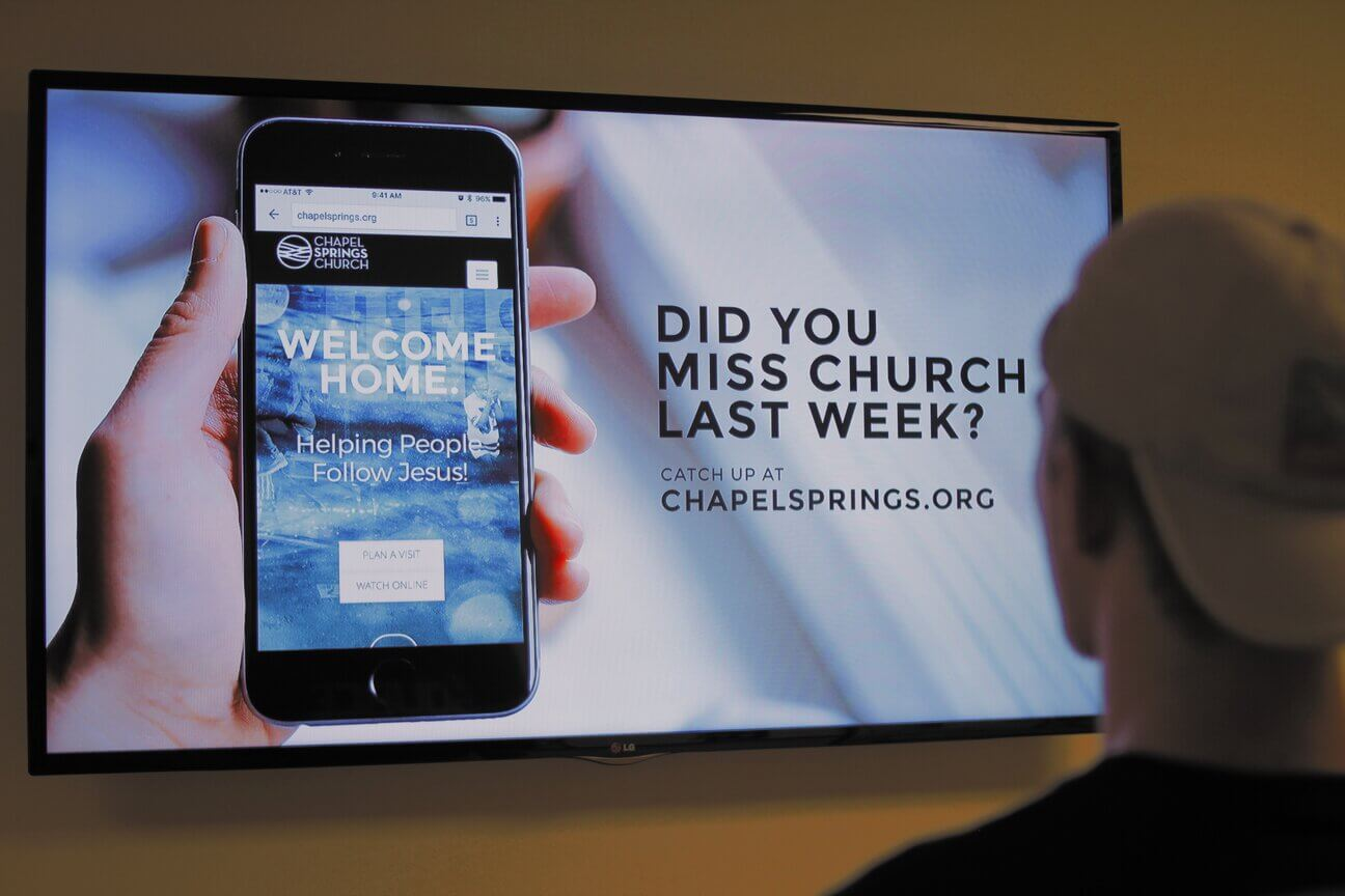 digital signage for churches