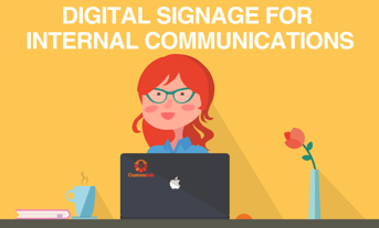 digital signage for internal communication