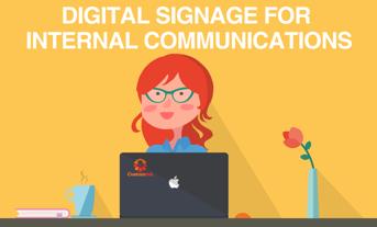 digital signage for internal communication