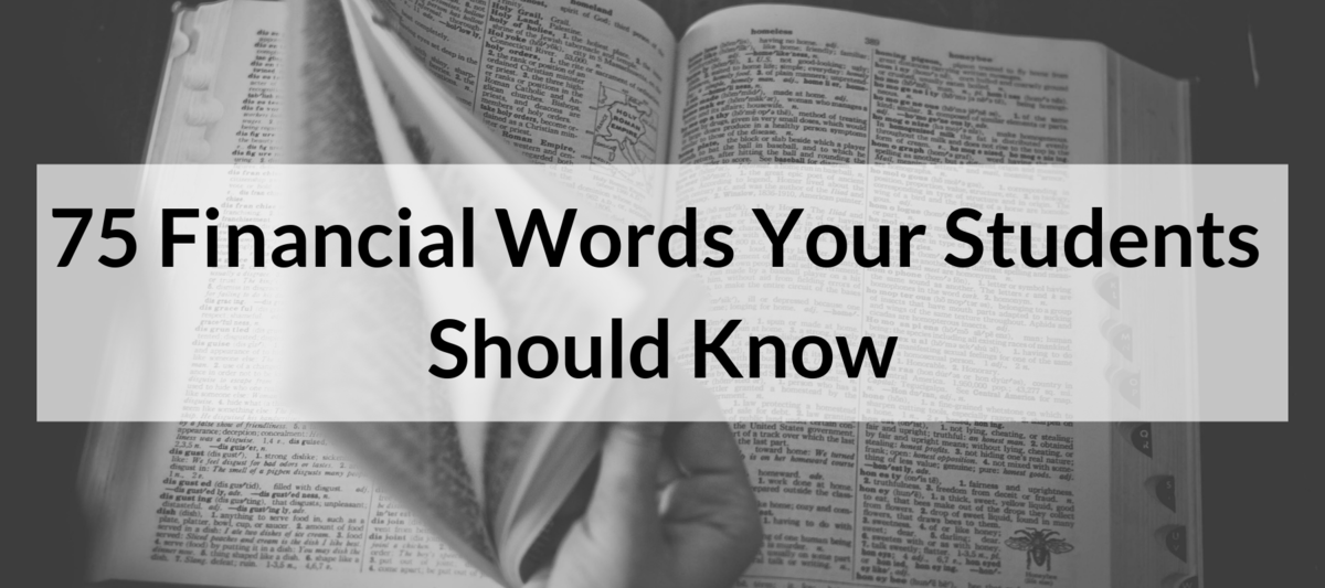 Financial Words Your Students Should Know