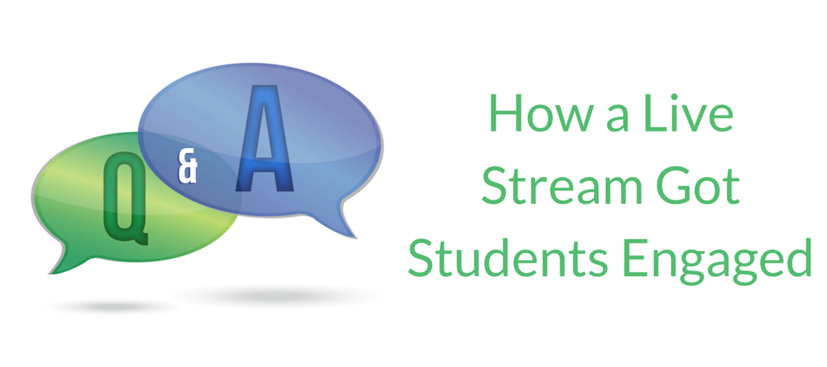 How a Live Stream Got Students Engaged