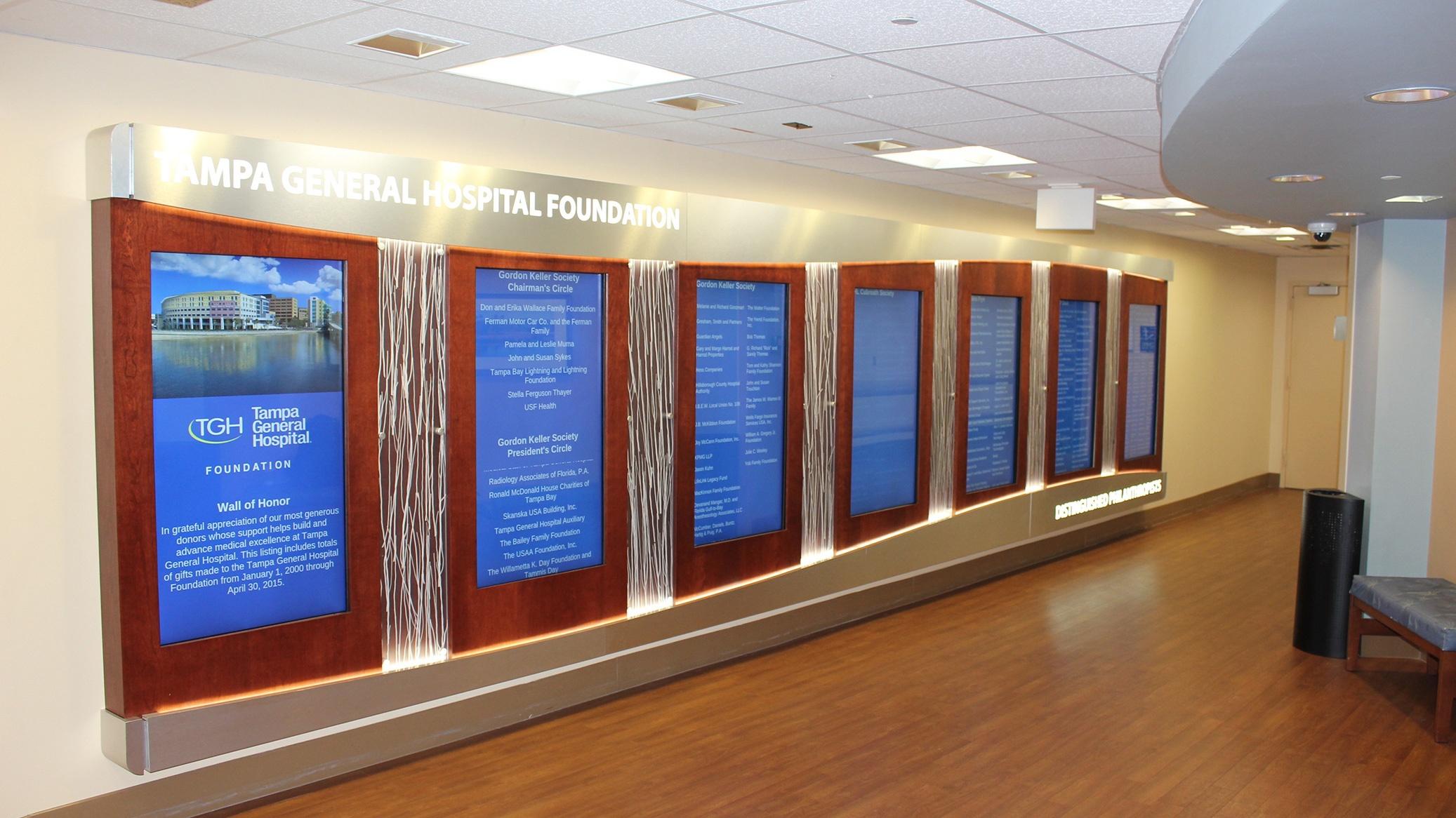 digital donor wall