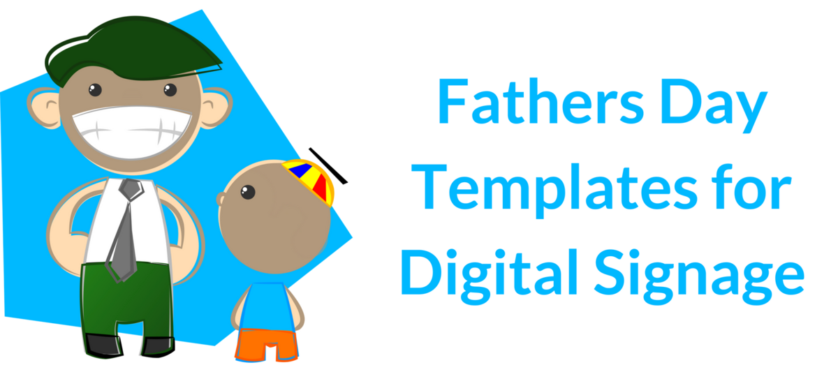Father's Day Digital Signage Templates