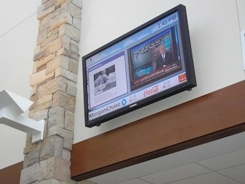 digital signage for banks