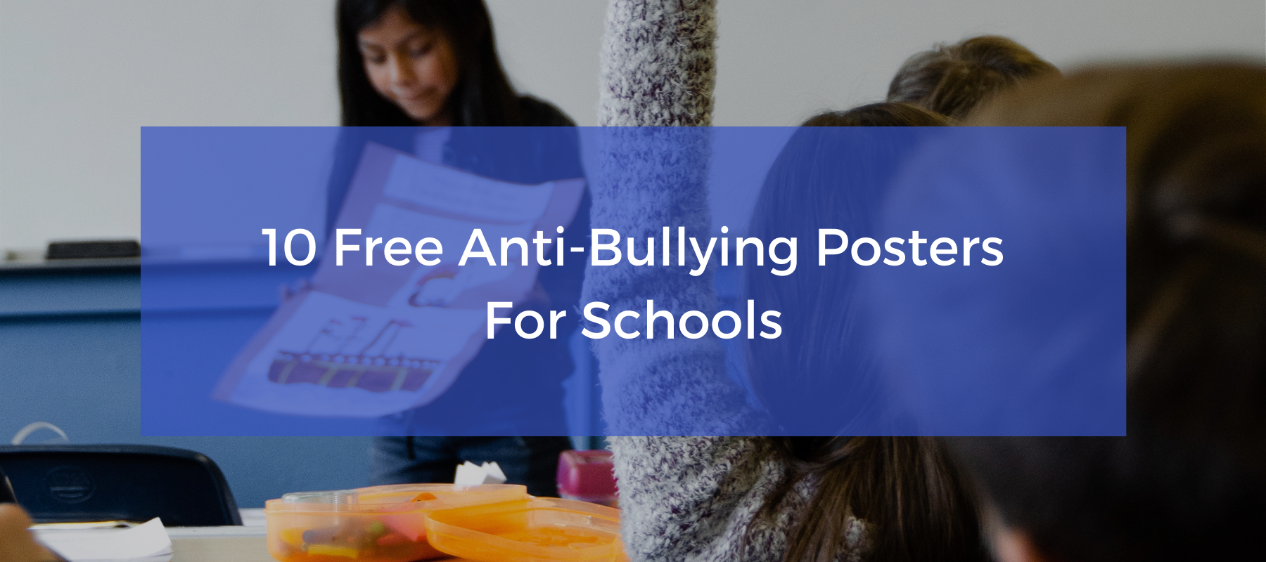 Free anti-bullying posters for schools to download.