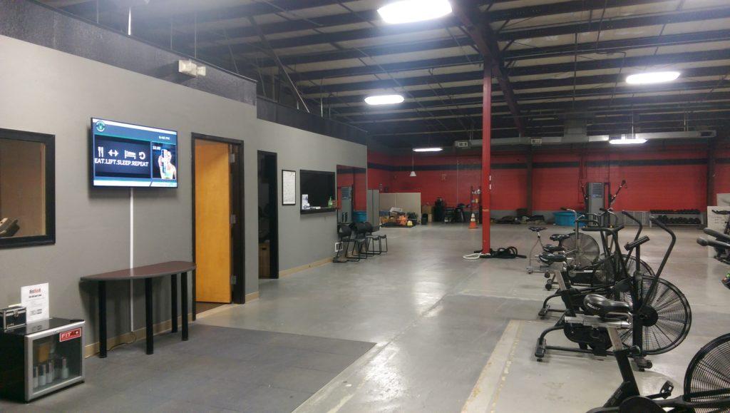 digital signage in a gym