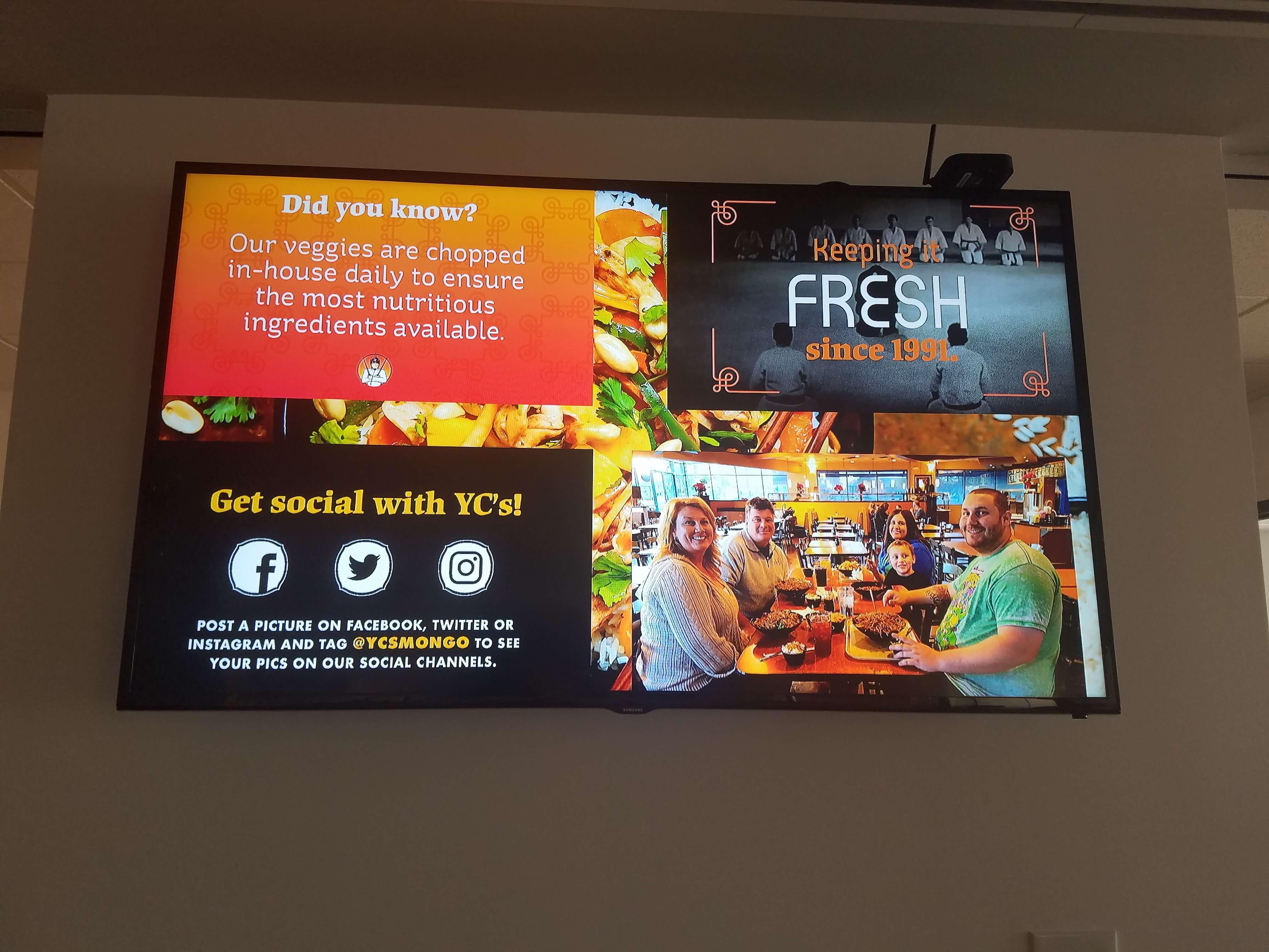 menu board digital signage