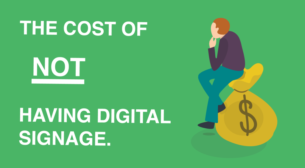 The Cost of Not Having Digital Signage