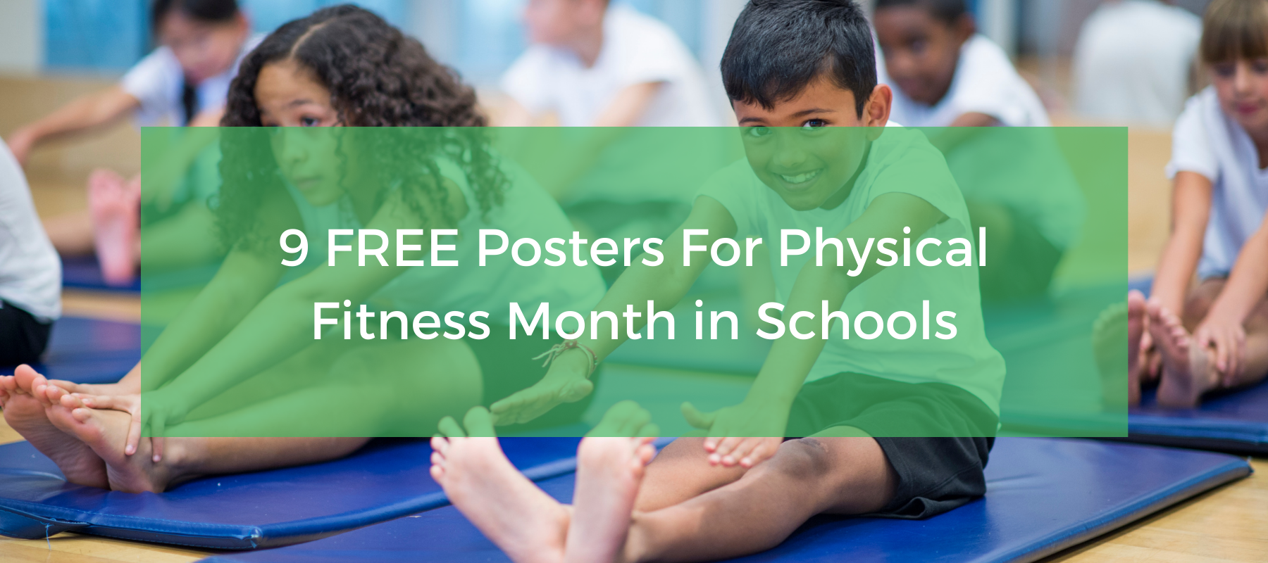 Physical fitness month posters for schools
