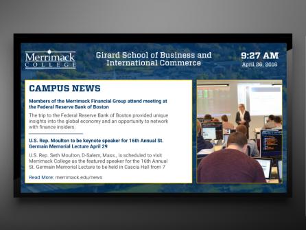 Campus Communication at Merrimack College