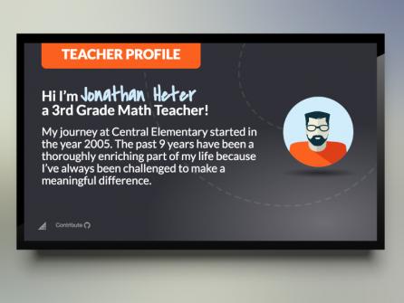 Digital Signage Teacher Profile