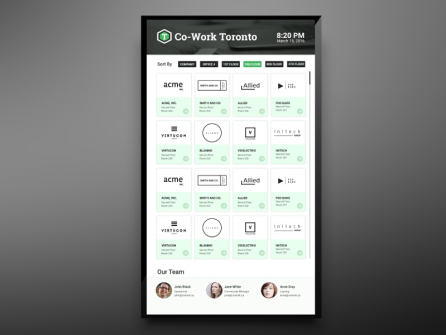 Interactive Digital Signage Directory Template