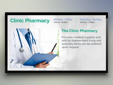 Clinic Pharmacy Digital Signage
