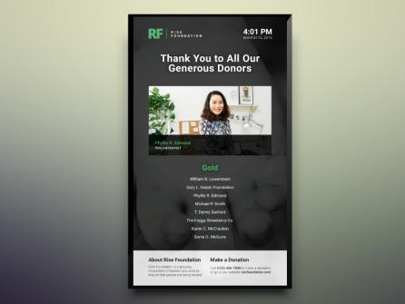 Portrait Donor Recognition Digital Signage