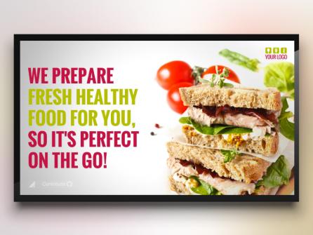 Restaurant Promotion Digital Signage