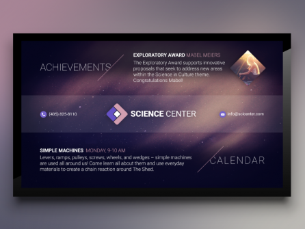 Digital Signage Content for a Science Center