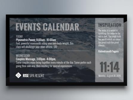 Digital Signage Events Calendar