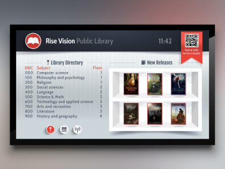 Digital Signage for a Library