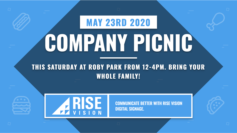 Company picnic digital signage template